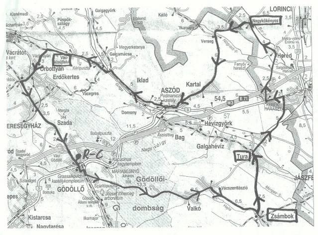 őrbottyán térkép Év közbeni túrák listája őrbottyán térkép