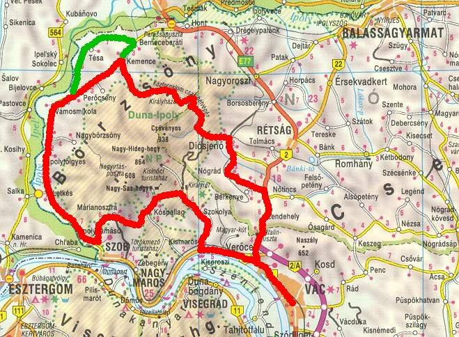 diósjenő térkép Hosszabb túrákról diósjenő térkép