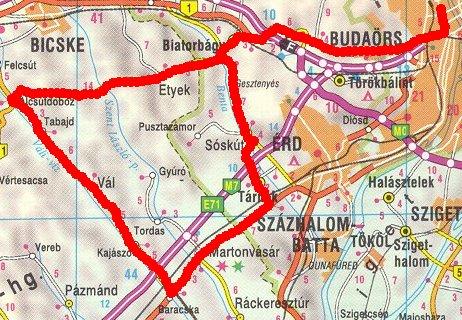 sóskút térkép Hosszabb túrákról sóskút térkép