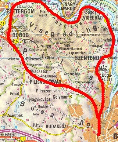 budapest visegrád térkép Hosszabb túrákról budapest visegrád térkép