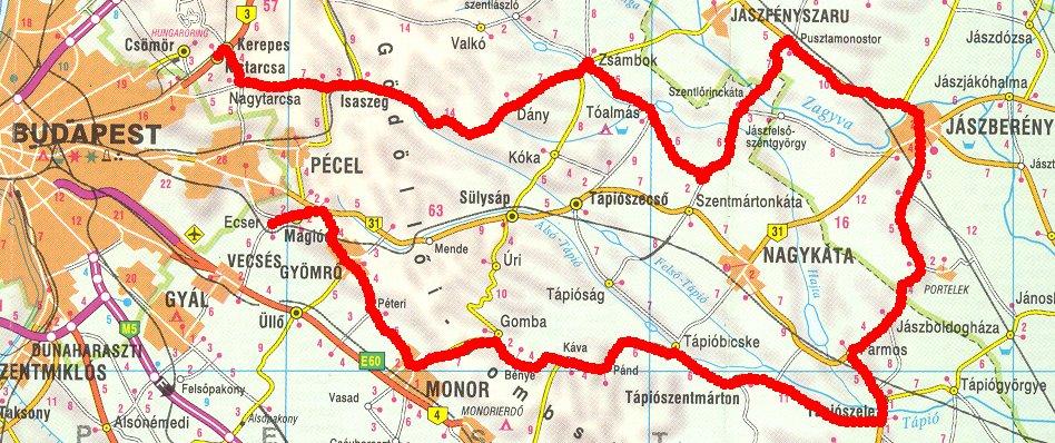 dány térkép Hosszabb túrákról dány térkép
