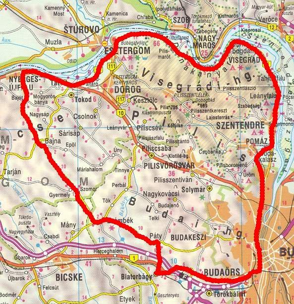 nyergesújfalu térkép Hosszabb túrákról nyergesújfalu térkép