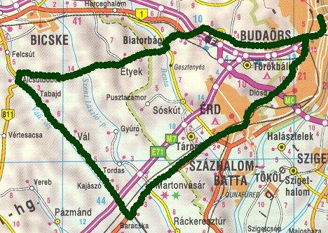 martonvásár térkép Rövid túrákról martonvásár térkép